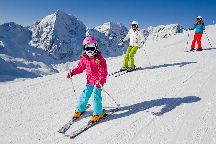 Esquí en familia en Italia