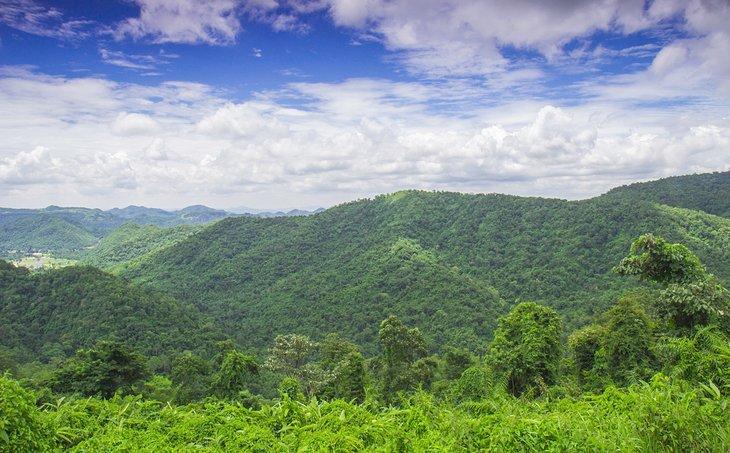 Вид на горы в Национальном парке Као Яй