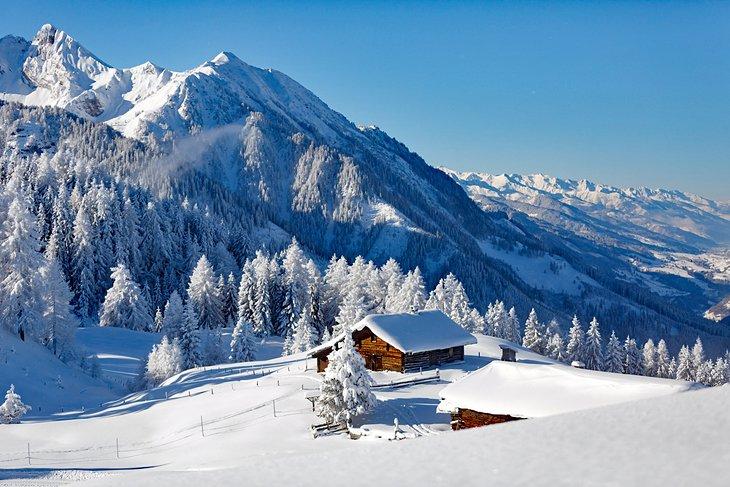 Winter scene in the Austrian Alps