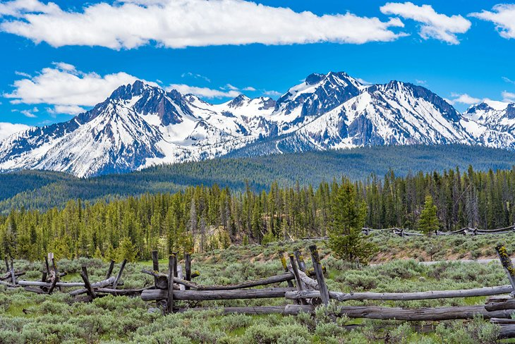 Sawtooth Mountains from the Sawtooth Scenic Byway