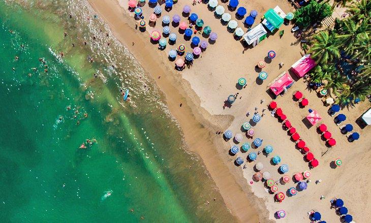 Vista aérea de la playa de Sayulita