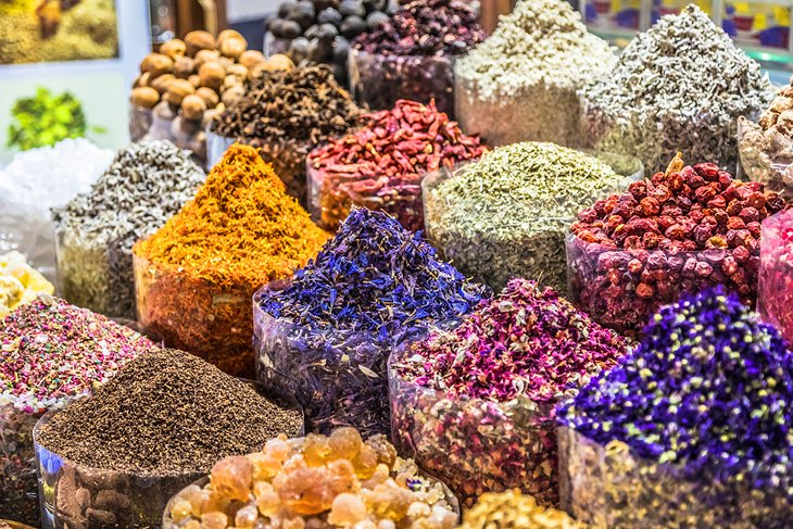 Spices for sale in Deira (Old Dubai)