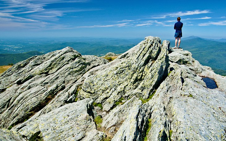 Hiker enjoying the view from the Camel's Hump