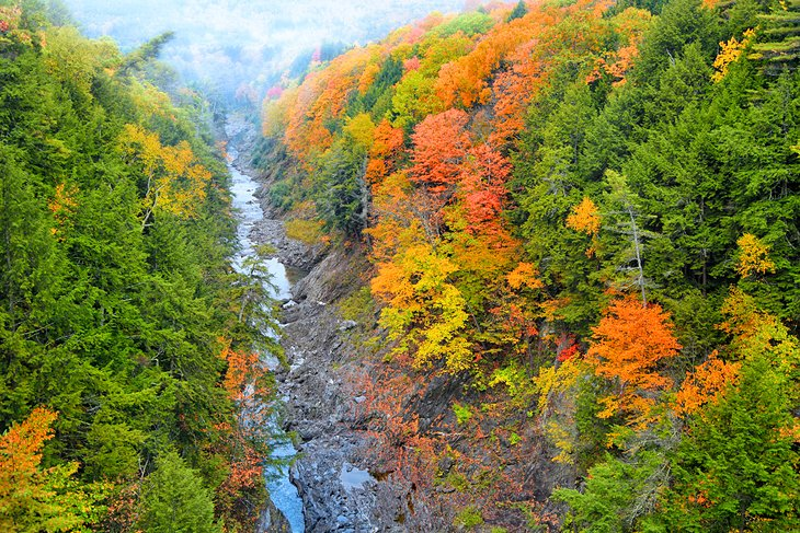 Fall colors in the Quechee Gorge