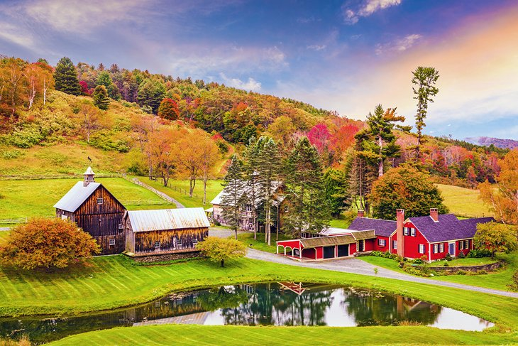Beautiful rural scene in Woodstock, Vermont