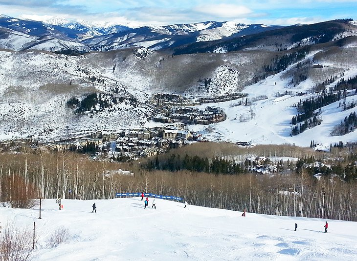 View from the slopes at Beaver Creek