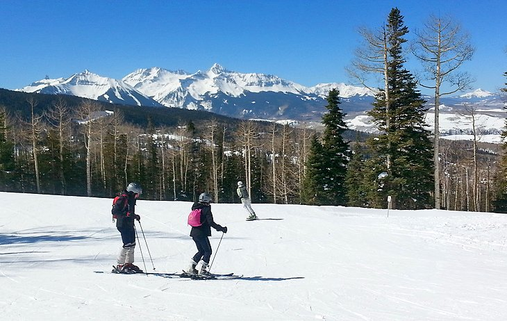 Skiers at Telluride Ski Resort