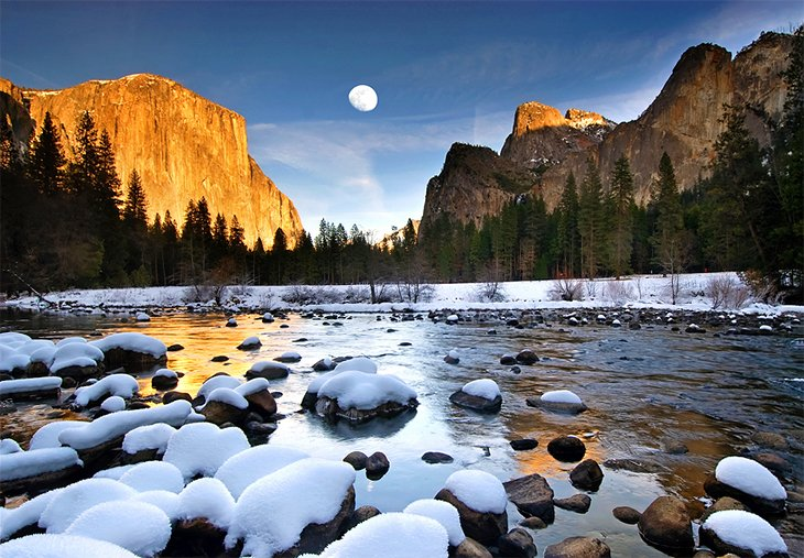 Yosemite Valley in the winter