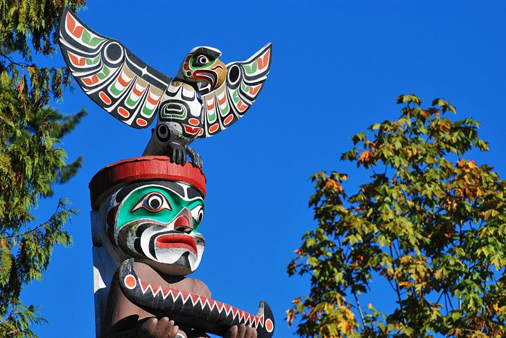 Totem pole in Stanley Park, Vancouver