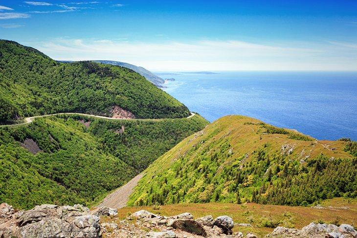 Vista desde el Skyline Trail en el Parque Nacional Cape Breton Highlands