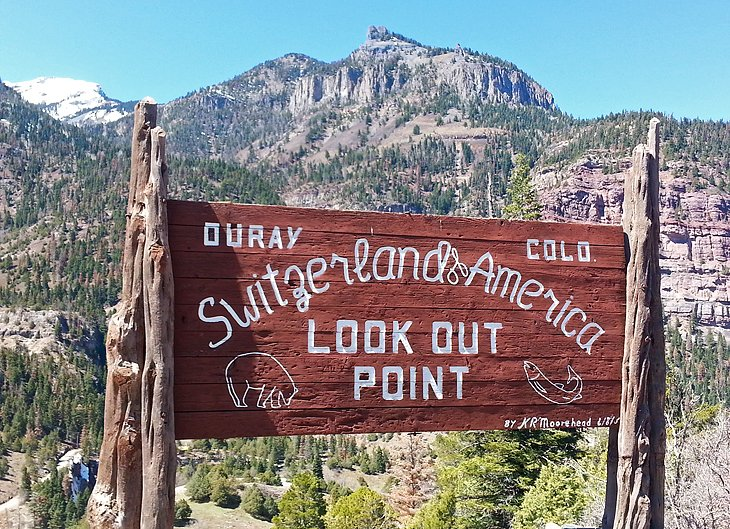 Ouray sign above Ouray