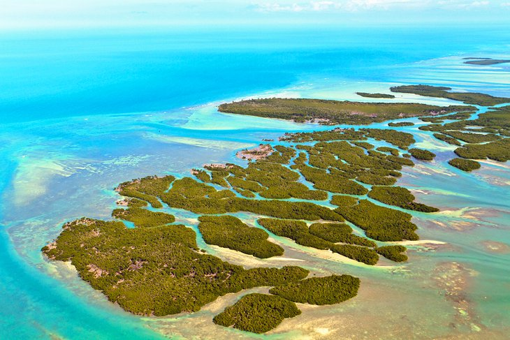 Aerial view of the Florida Keys