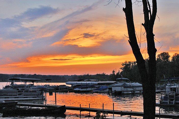 Lago Chippewa al atardecer