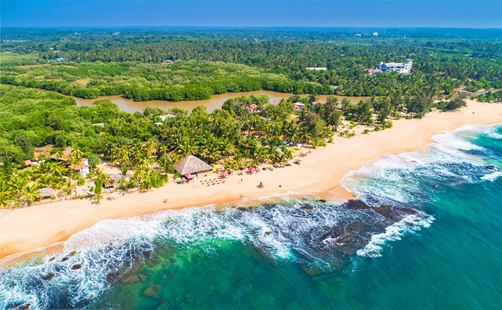 Aerial view of Tangalle