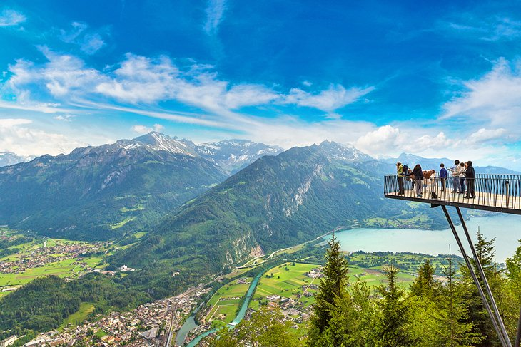 Harder Kulm viewpoint overlooking Interlaken
