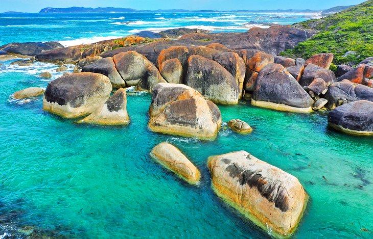 Elephant Rocks, Parque Nacional de la Bahía de William