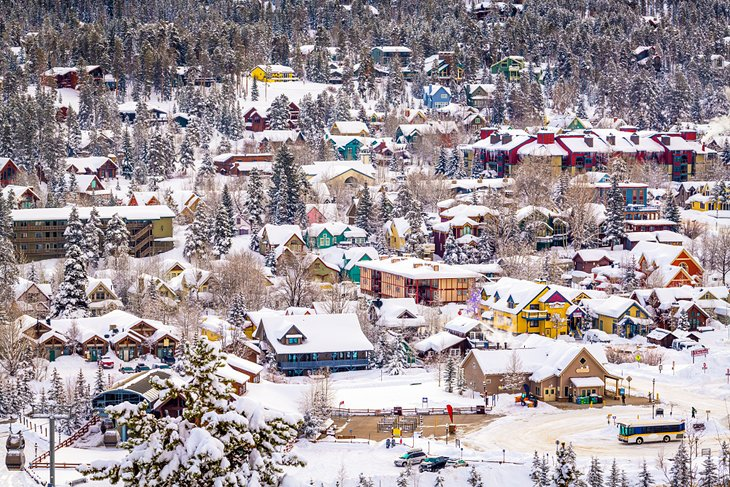 Breckenridge town cloaked in snow