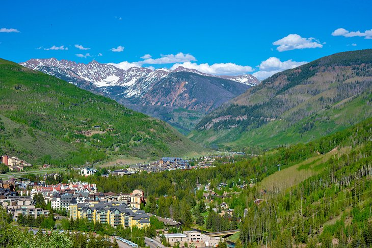 View of Vail in the summer