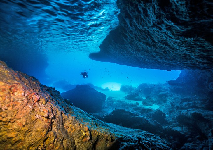 Blue Room dive site in Curacao