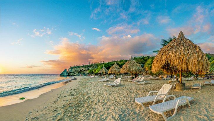 Cas Abou Beach at sunset