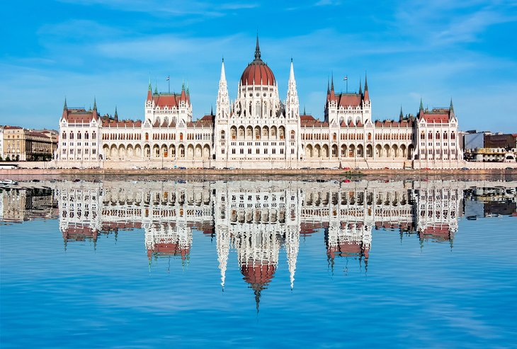 Hungarian Parliament Building reflected in the Danube