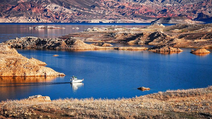 Boat on Lake Mead