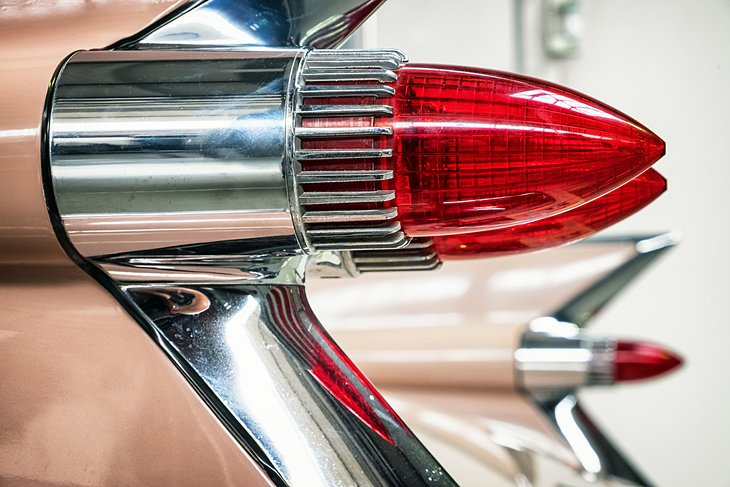 Old Cadillac break lights