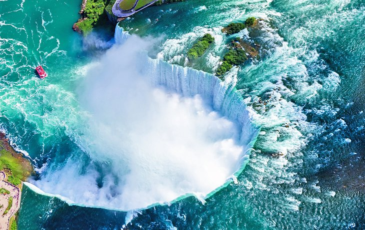 Aerial view of Horseshoe Falls, Niagara Falls