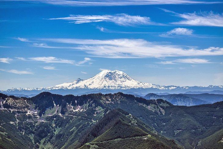 Vista del monte Rainier desde Mailbox Peak