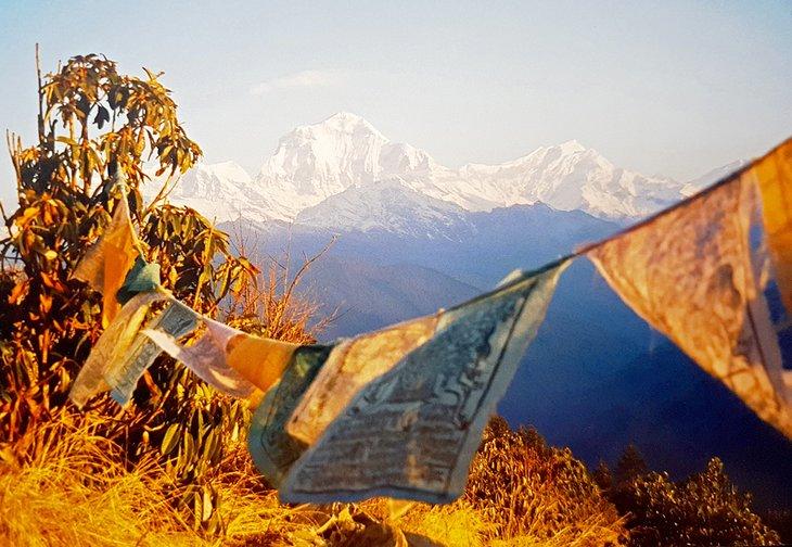 Temprano en la mañana en Poon Hill, región de Annapurna