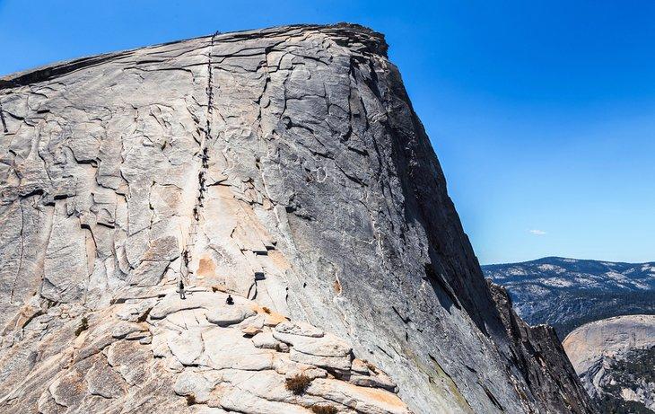 Parte final de la caminata Half Dome