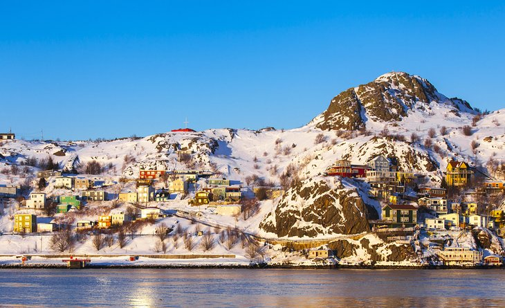 La batería en el invierno, St. John's, Terranova