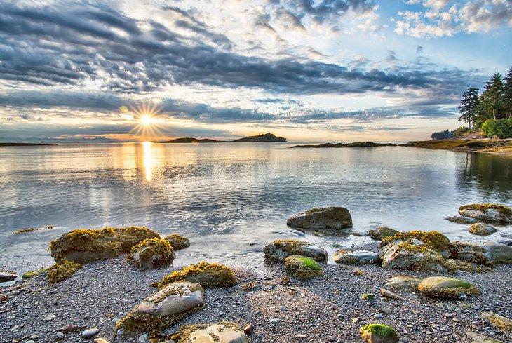 Puesta de sol a lo largo de la Sunshine Coast