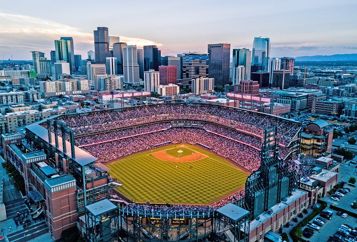 Coors Field and Downtown Denver