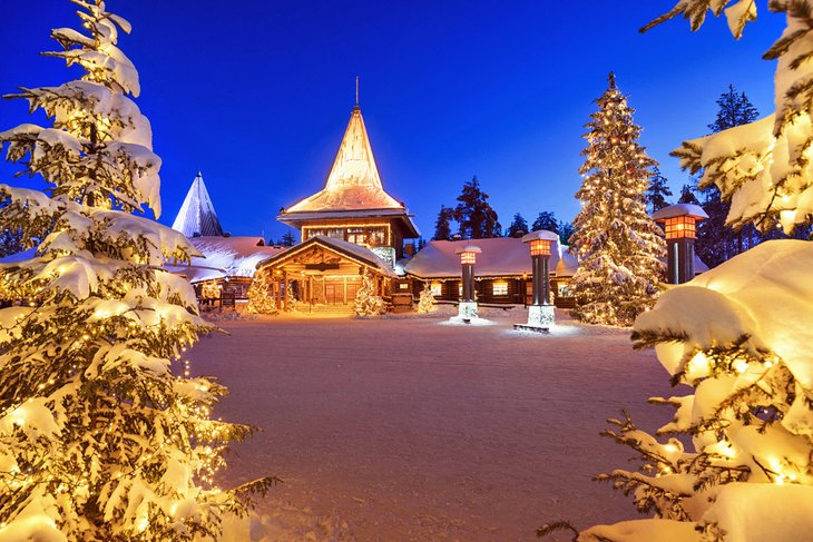 Santa Claus Village in the evening