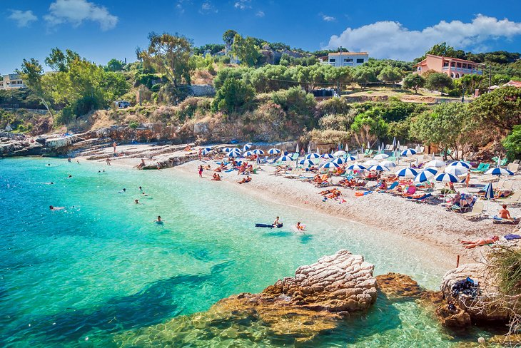 Playa de Bataria, Corfú