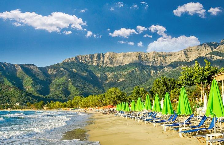 Golden Beach en la isla de Tasos