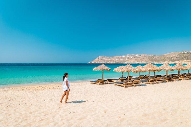 Playa Elia en Mykonos