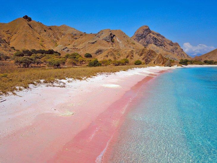 Pink Beach en la isla de Komodo