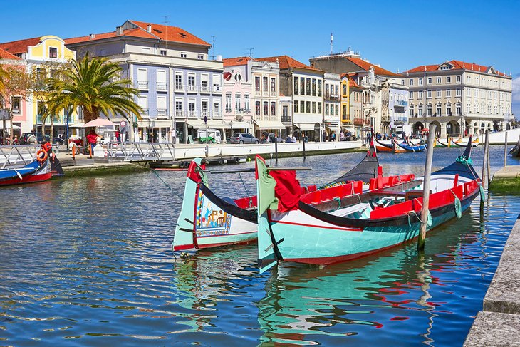 Traditional Portuguese boats in Aveiro