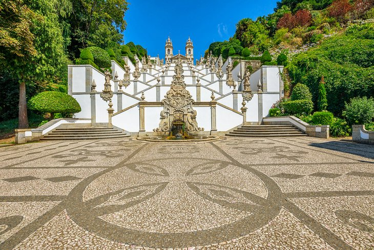 Baroque staircase Bom Jesus do Monte