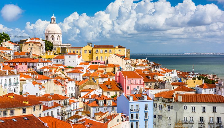 View of the Alfama district of Lisbon