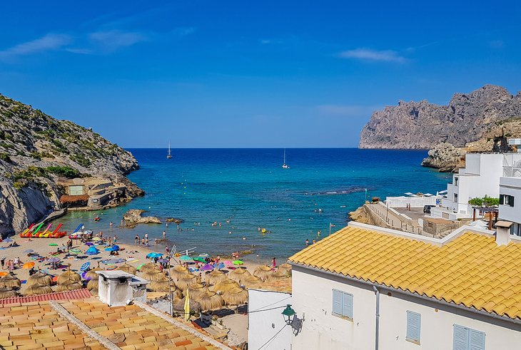 View over Cala Barques beach