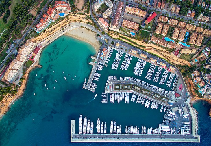 Aerial view of Port Adriano