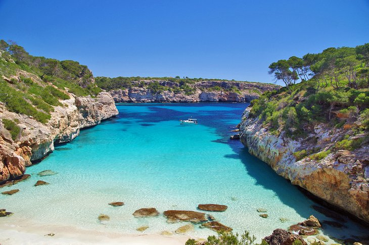 The stunning beach at Calo del Moro