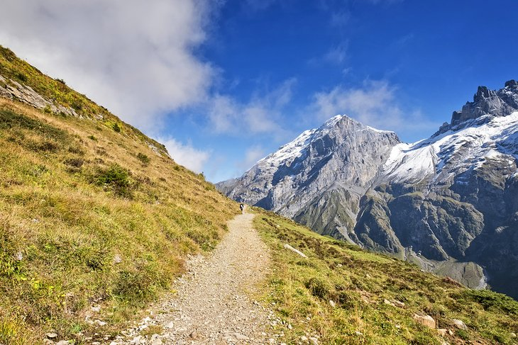Mountain trail near Engelberg