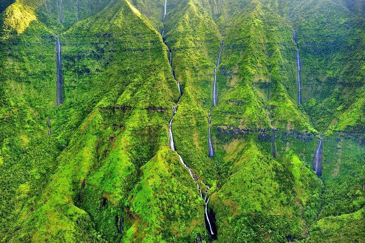 El muro de las lágrimas en el monte Waialeale