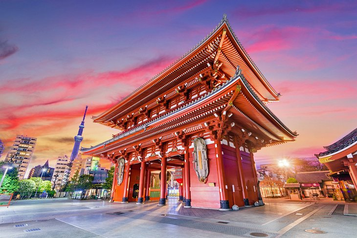Temple Gate in Tokyo