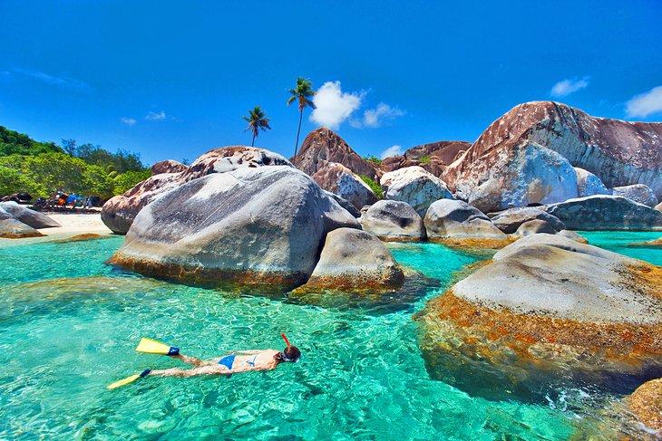 Snorkeling at Virgin Gorda, British Virgin Islands