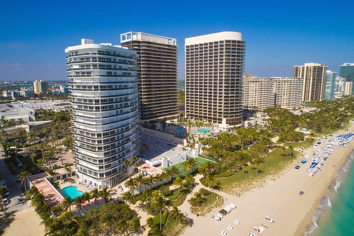 Aerial photo of Bal Harbour Beach